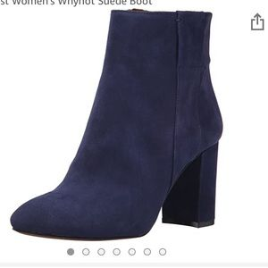 Nine West WhyNot suede Bootie in used condition